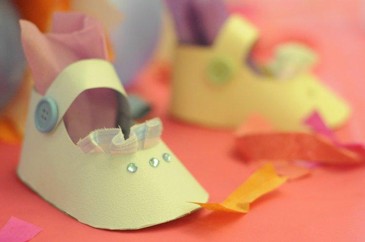 Paper Craft Baby Booties