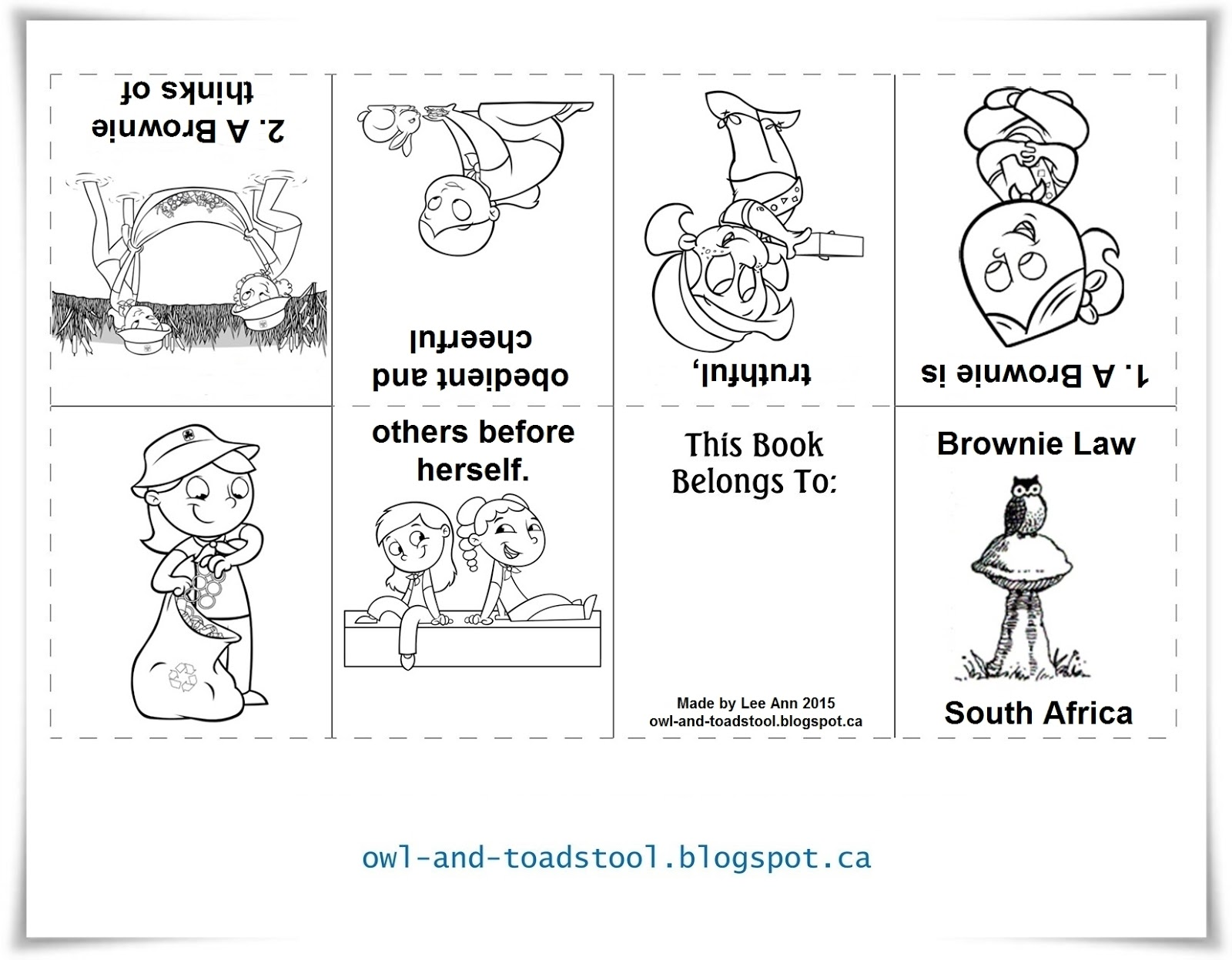 Owl & Toadstool: South Africa Promise & Law mini books