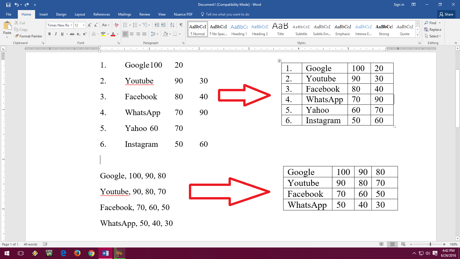 How To Convert Text To Table In Ms Word (easy Steps)