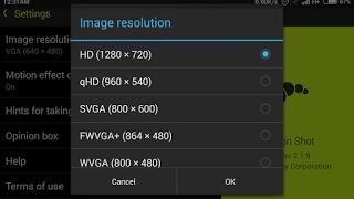 Sony Camera Motion shot