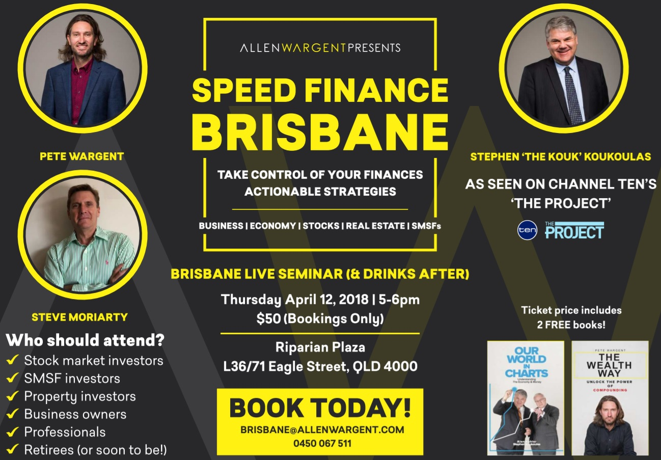 SPEED FINANCE, BRISBANE - COME & SEE ME SPEAK LIVE WITH 'THE KOUK'
