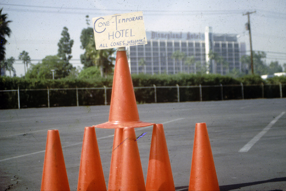 Image result for parking lot of cones