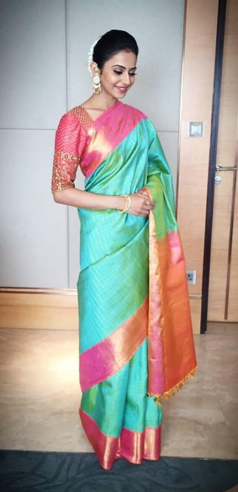 Rakul preet singh Saree stills 2016