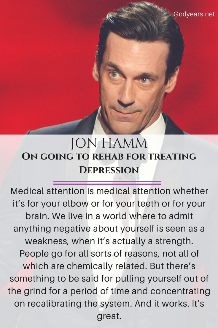 Suicide Prevention: Jon Hamm talks on his battle with depression