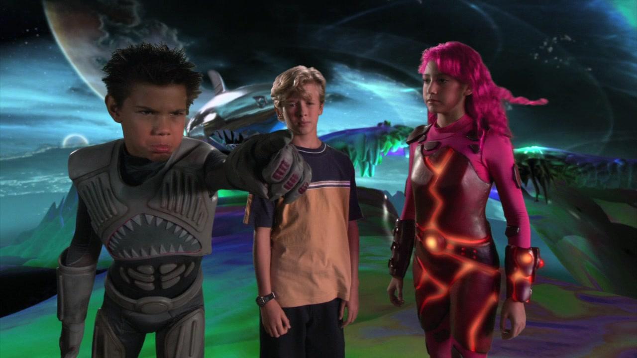 Lava girl and shark boy costume