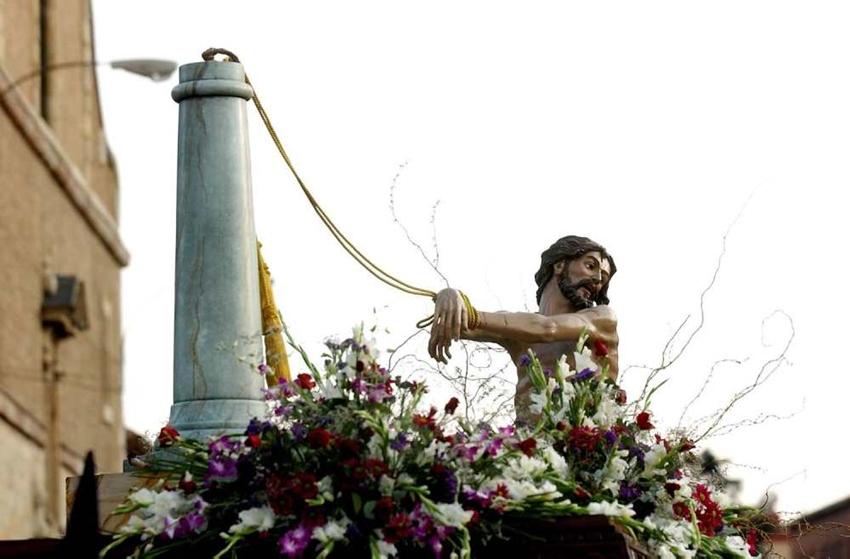Santo Cristo Flagelado del Desamparo y la Caridad. Real cofradía de Minerva y Vera Cruz. León. Foto Mauricio Peña