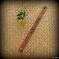LoveLea's brown leather narrow bracelet