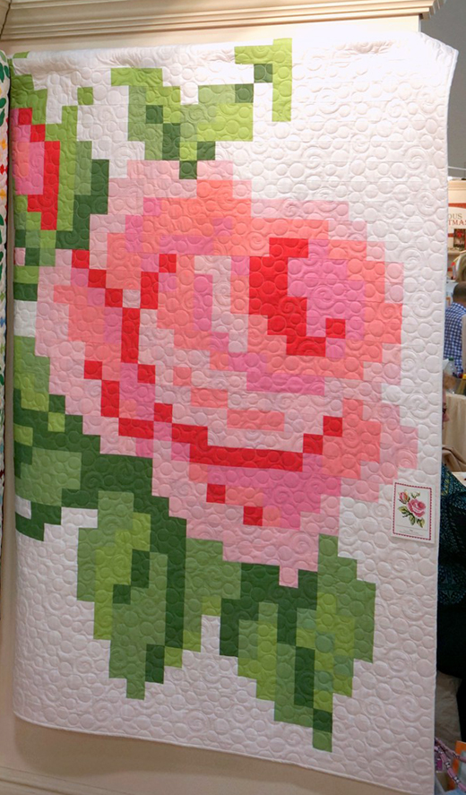 Pixelated Rose Quilt Free Pattern