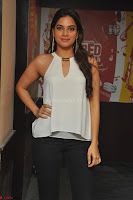 Tanya Hope in a whtie shirt and leggings at Song launch of Movie Patel Sir ~  Exclusive Celebrities Galleries 026.JPG