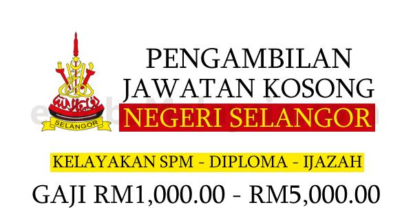 Prngambilan Jawatan Kosong Terbuka Di Negeri Selangor