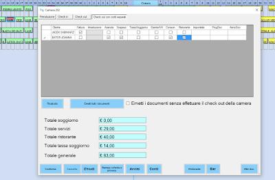 conti-separati-albergo Gestione separata dei documenti con separazione dei conti