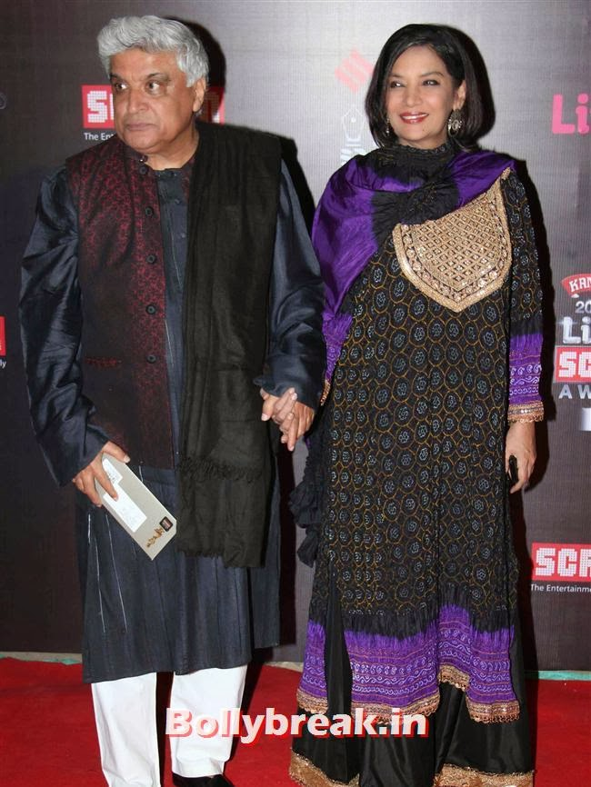 Javed Akhtar & Shabana Azmi, Bollywood Wags at Screen Awards 2014