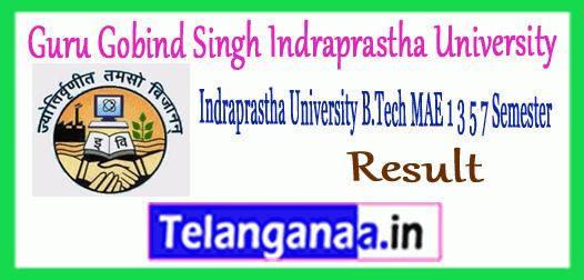 GGSIPU Gobind Singh Indraprastha University B.Tech 1st 3rd 5th 7th Semester Results