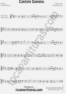 Cantate Domino Partitura de Saxofón Soprano y Saxo Tenor Sheet Music for Soprano Sax and Tenor Saxophone Music Scores