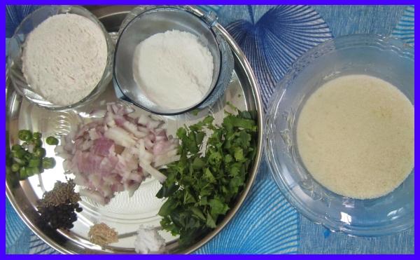 Rava Dosa \ Semolina Dosa Ingredients