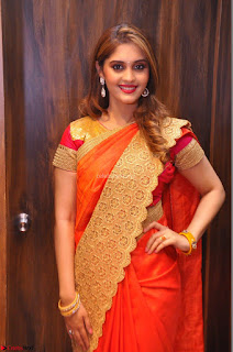Surabhi looks stunning in Saree at Nakshatra Fashion Store Launch at Suchitra X Road 02.JPG