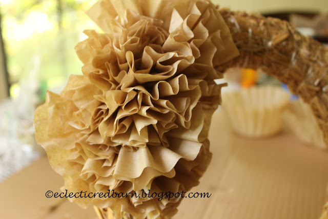 Eclectic Red Barn: Multiple coffee filters on the base