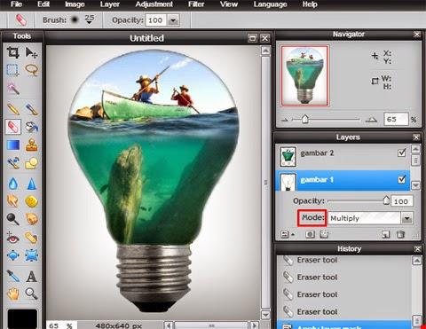 cara membuat foto manipulasi online