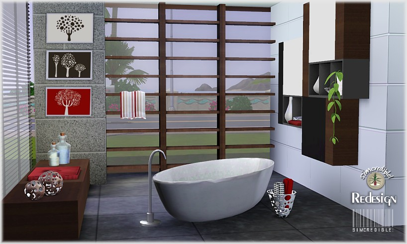My Sims 3 Blog: Redesign Bathroom Set by Simcredible Designs