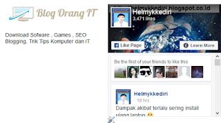 Cara memasang Fanspage didalam Blog3