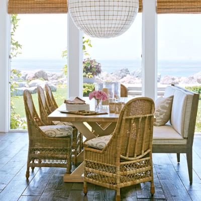 Wicker Furniture Coastal Style Living Decor Amp Design Ideas