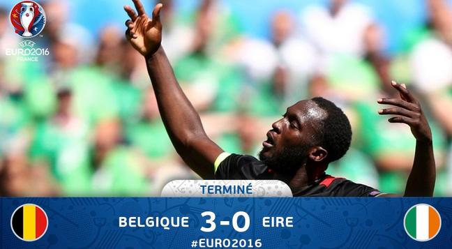 Berikut Cuplikan pertandingan antara Belgia vs Irlandia