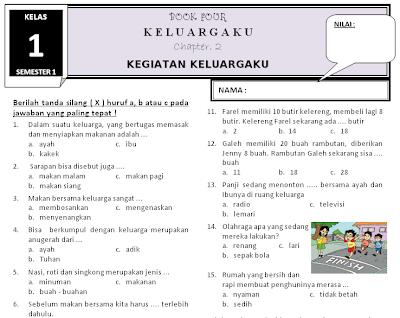 Download Kumpulan Latihan Soal Tematik Kelas 1 Semester 1 Kurikulum 2013 Rief Awa Blog