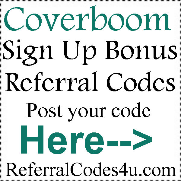 Coverboom.com Referral Codes 2016-2017, Coverboom Invite Codes, Coverboom Bonus