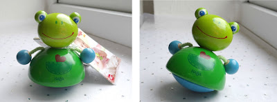 12 days of Christmas, Christmas gifts 2012, Haba Quacking Frog rattle