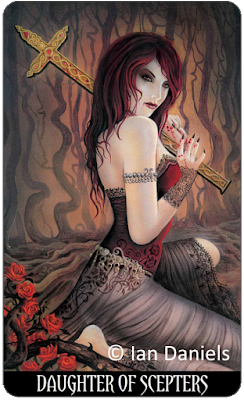 Tarot of Vampyres Daughter of Scepters Ian Daniels blog blogger