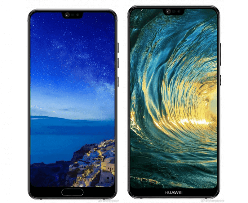 Huawei P20 and P20 Plus leaked press renders shows the notch!
