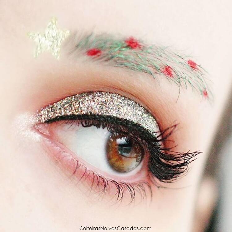sobrancelhas de árvore de natal