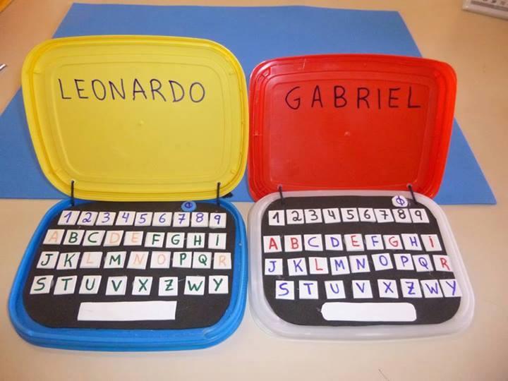 Resultado de imagem para atividades  feitas com sucatas e com as letras do alfabeto na educação infantil