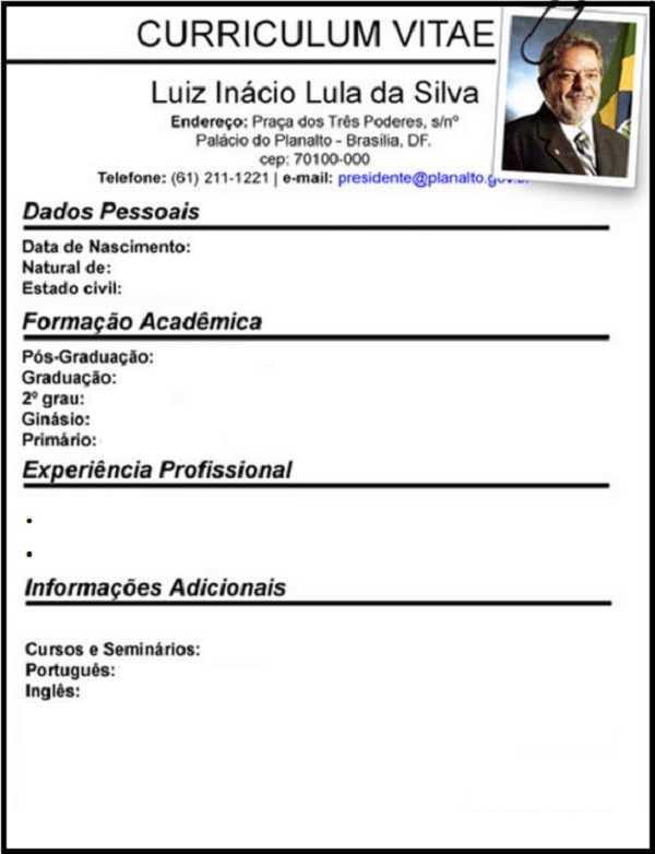 Curriculum Vitae Lula Battlegoal Gq