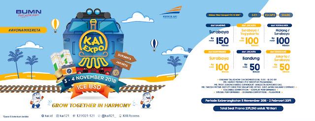 Inilah Jadwal KAI Expo 2018 dan Rute yang Dapat Diskon