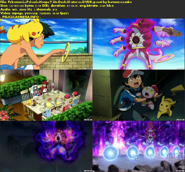 Descargar La película Pokémon: Hoopa y un duelo histórico Castellano por MEGA.