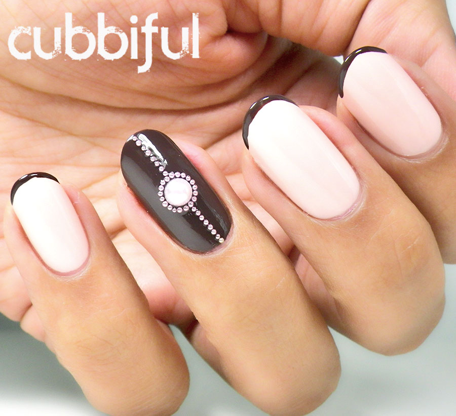 Romantic French mani with a twist