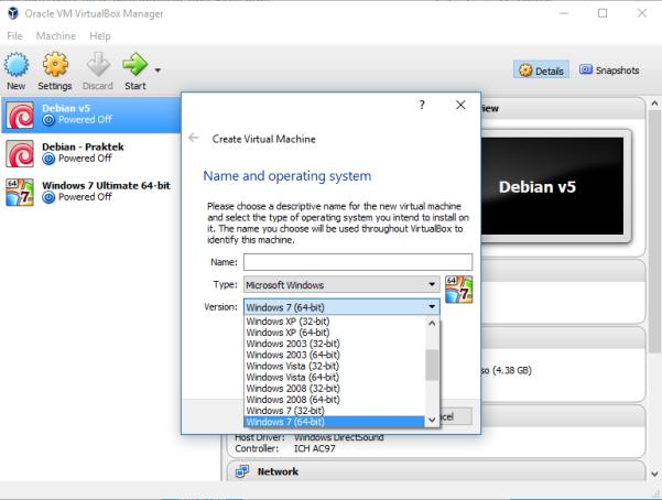 Cara Mengatasi VirtualBox Tidak Ada Pilihan OS 64-bit