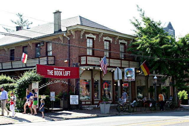The Book Loft in German Village Columbus, Ohio has an enormous selection of books in a historic home.
