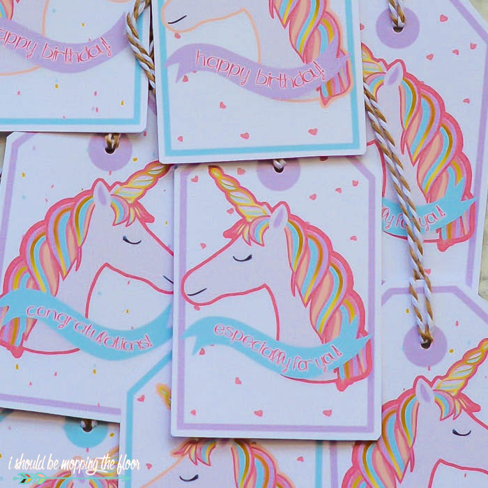 Gift Tags with Unicorns