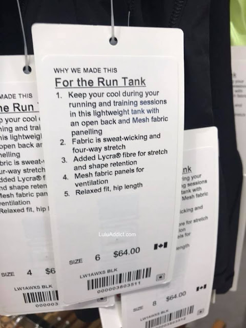 lululemon for-the-run-tank