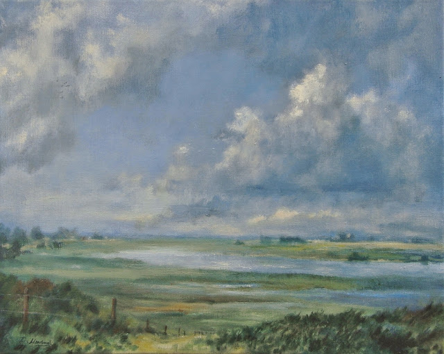 Clouds, floodplains, wolken, IJssel, cloud painting, wolkenschilderij,