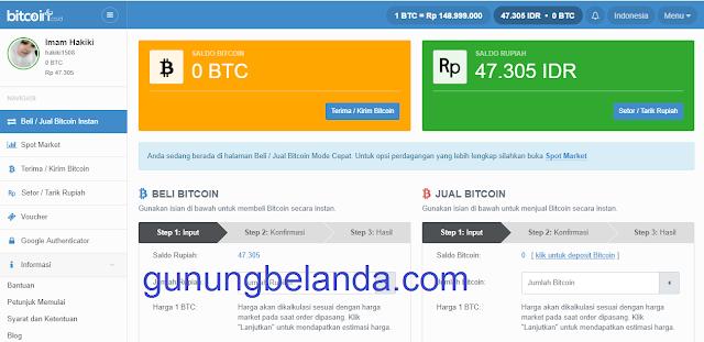 Cara daftar dan Setor Bitcoinco.id