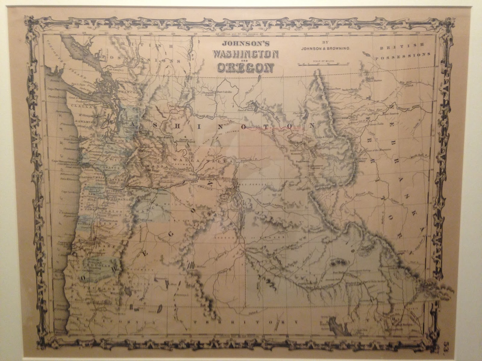 on a trip through the u s pacific northwest i bought this example of johnson s washington and oregon from 1861
