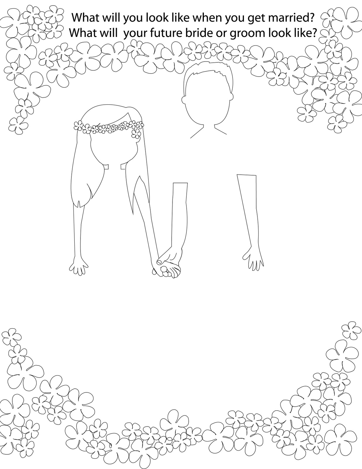q and u wedding coloring pages - photo #20