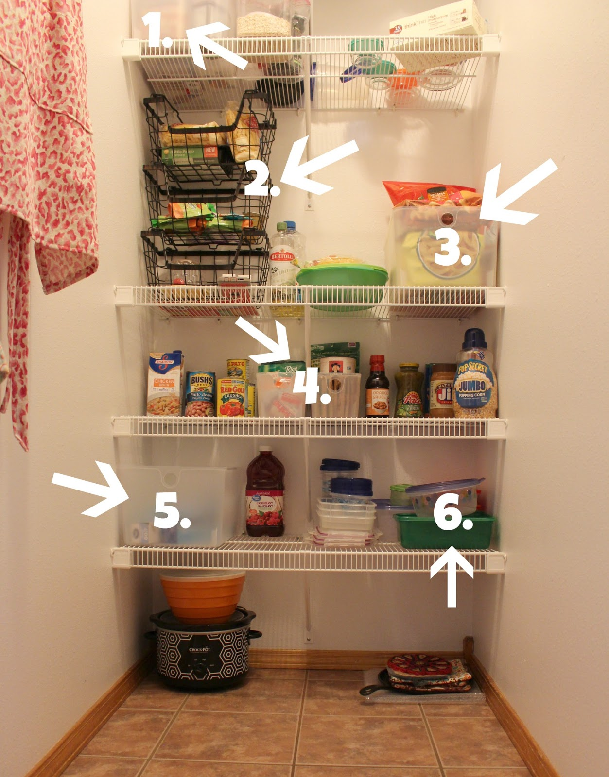 organized pantry after photo