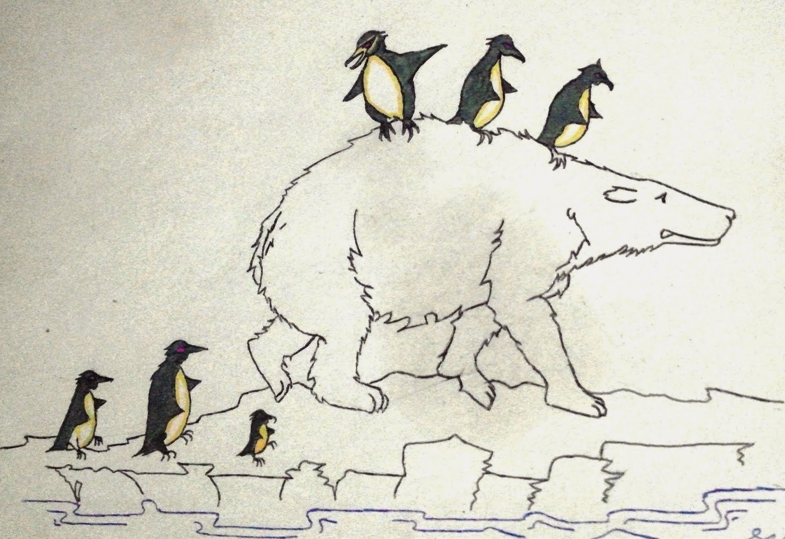 Ignite Dreams : Sketch of Global Warming Meltdown