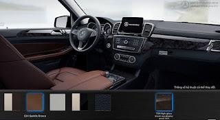 Nội thất Mercedes GLS 350d 4MATIC 2015 màu Nâu Saddle 224