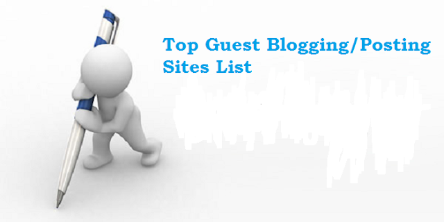 Top Guest Blogging/Posting Sites List
