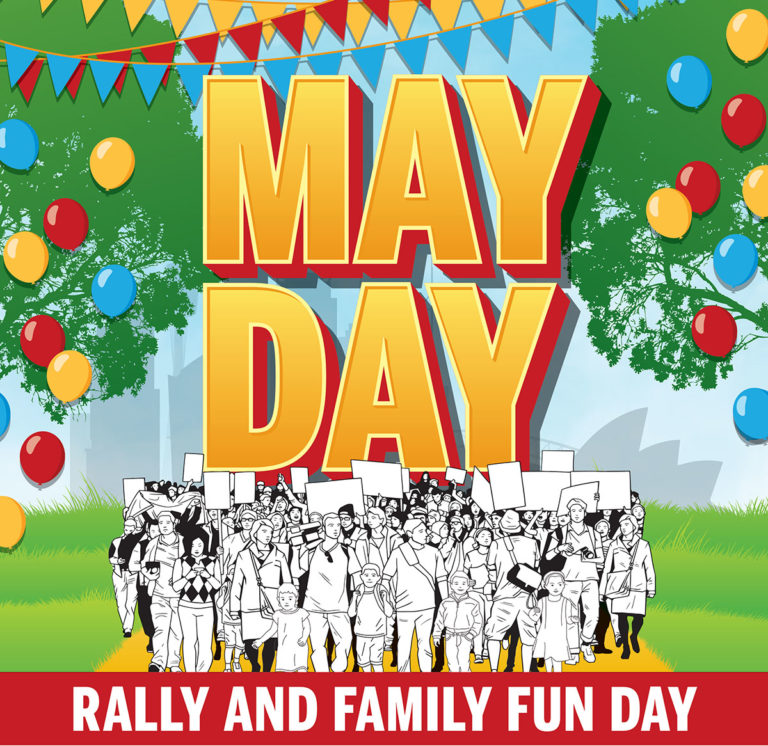 Happy may day rally